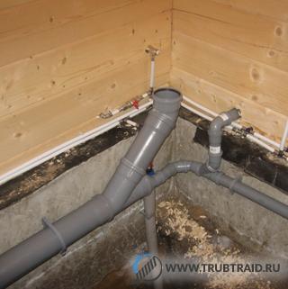 В системе канализации