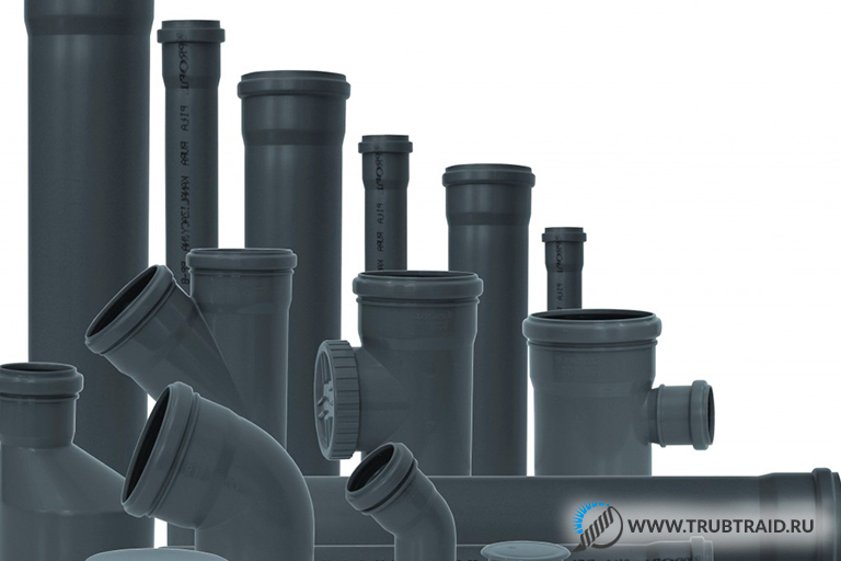 Черные канализационные трубы