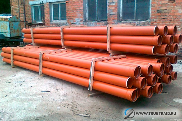Оранжевые канализационные изделия