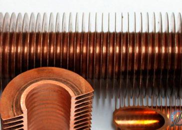 Медная оребренная труба, диаметры  и технические характеристики, ореберение своими руками