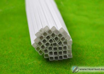 Трубы пластиковые профильные квадратного сечения – характеристики и сфера применения