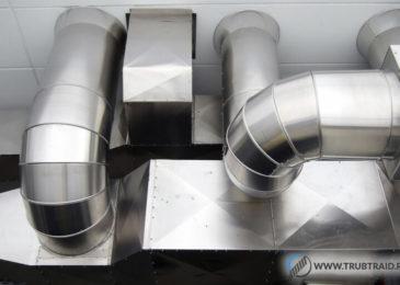 Труба вентиляционная 160 мм – оцинкованная, пластиковая и из жести