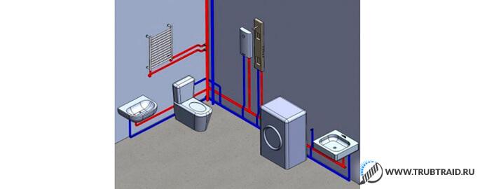 Разводка металлопластиковых труб для водопровода