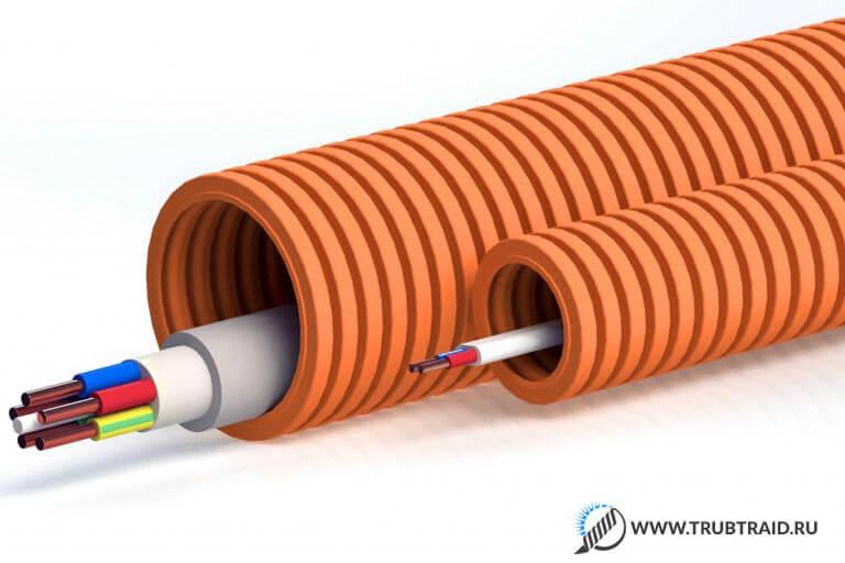 Гофрированные трубы для электропроводки