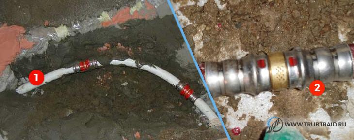 Для ремонта нужен отрезок трубы и фитинги