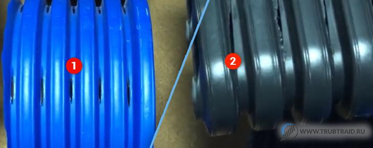перфорация плоской и круглой дренажной трубы - сравнение