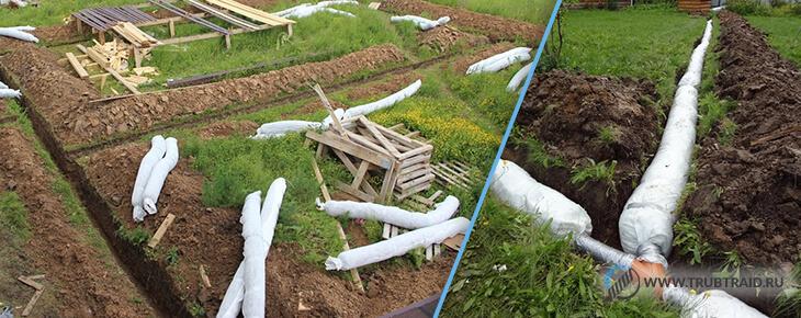 Softrock для дренажа фундамента на участках с глинистой почвой