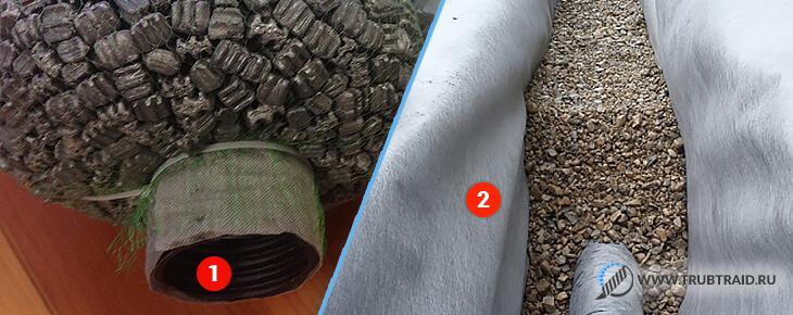 Softrock и устройство дренажа из щебня