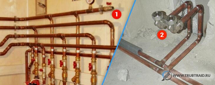 водопровод и система отопления из меди