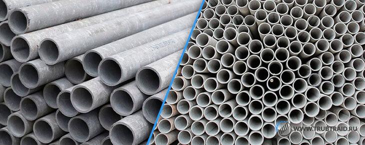Напорные и безнапорные трубы из хризотилцемента