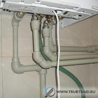 Разводка газовых туб в доме от котла